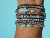 jewels,fleurdesignz,boho wrap bracelet