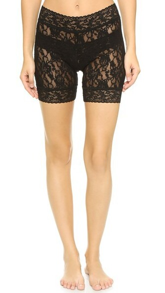 shorts bike lace black