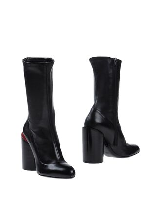 shoes boots black boots thick heel high heels boots