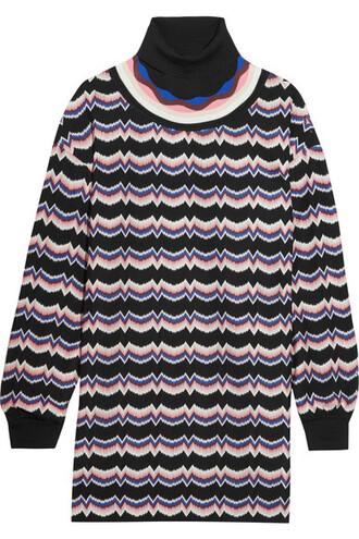tunic knit wool pink crochet top