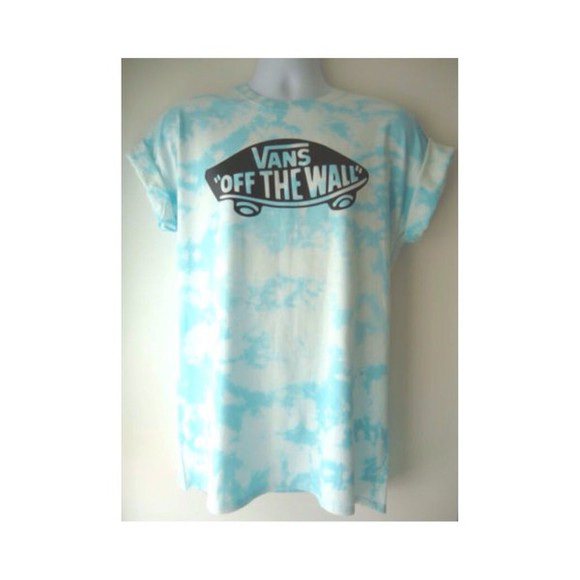 blue shirt vans of the wall vans tye dye shirt, acid wash cheap wheretoget? where did u get that