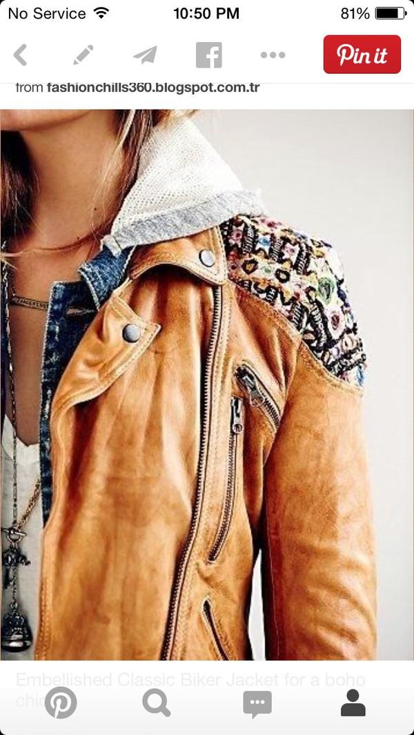 jacket coat embellished jacket embellished biker jacket