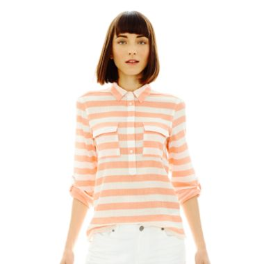 Joe Fresh™ Stripe Popover Shirt - JCPenney