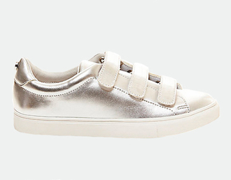 shoes metallic shoes sneakers silver sneakers low top sneakers