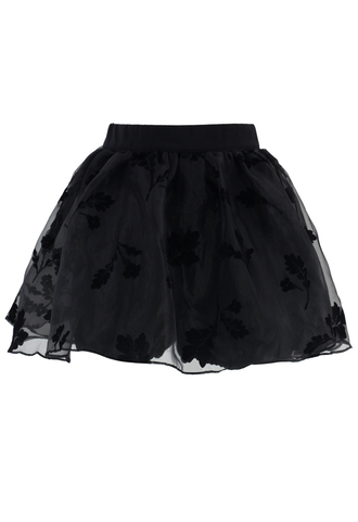 skirt black beloved organza crepe skorts