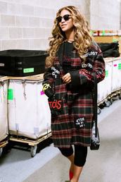 coat,beyonce,instagram,fall outfits,celebrity,oversized coat,oversized