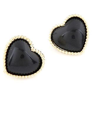 jewels black earrings black earrings heart chic accessories