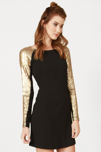 little black dress sequin dress party outfits clubwear holidays fall outfits long sleeves new year's eve