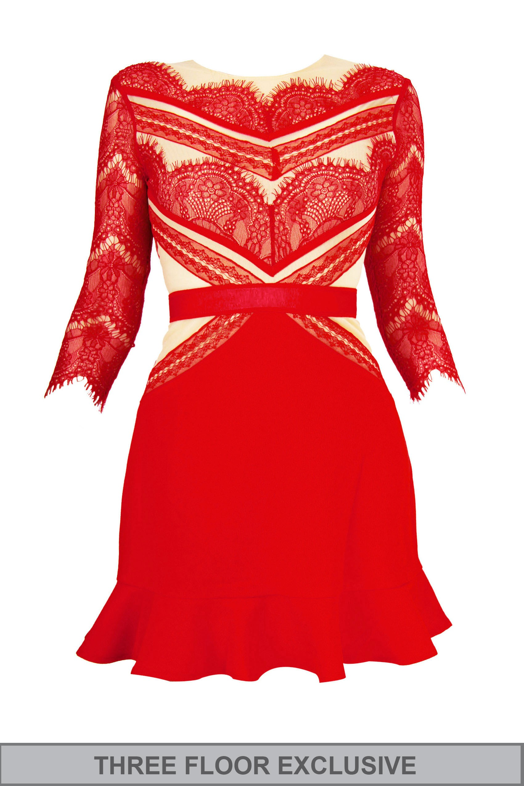 SHADES OF RED Strawberry Dress by Three Floor - Styligion.com