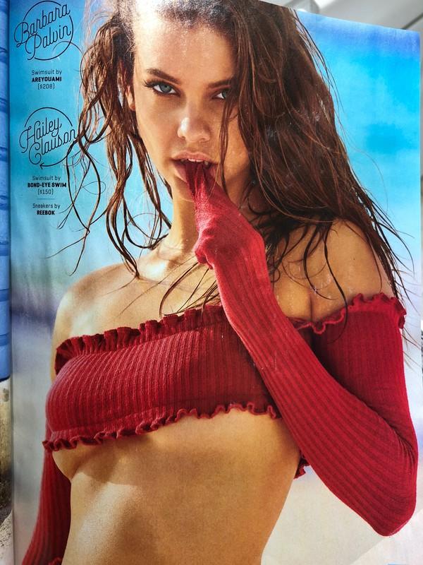 swimwear red long sleeve bikini top areyouami barbara palvin