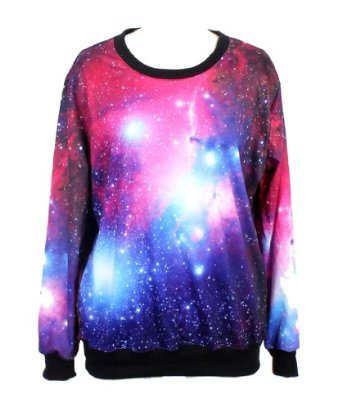 Amazon.com: pandolah neon galaxy cosmic colorful patterns print sweatshirt tees (free size, multi color): clothing