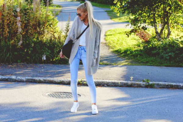 jeans cardigan casual classy
