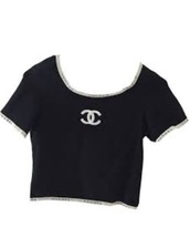 top,vintage,chanel t-shirt