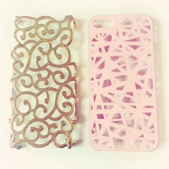 phone case iphone case jewels gold pink must have phone case iphone 5 iphone 5 case iphone design hallow