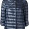 Herno - collarless down jacket - women - polyamide/goose down - 40, blue, polyamide/goose down