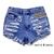 High Waisted Denim Shorts - Front Pocket Stud | Dentz Denim