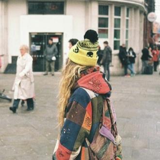 jacket patchwork hippie colourful print