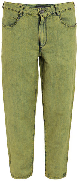 Theyskens' Theory Winki Acidwash Jeans in Green (yellow) | Lyst