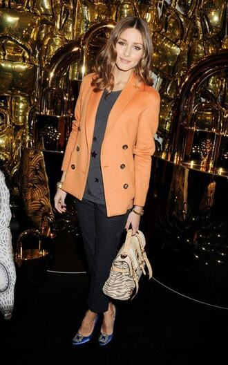 orange jacket olivia palermo jacket