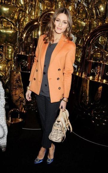 orange jacket olivia palermo