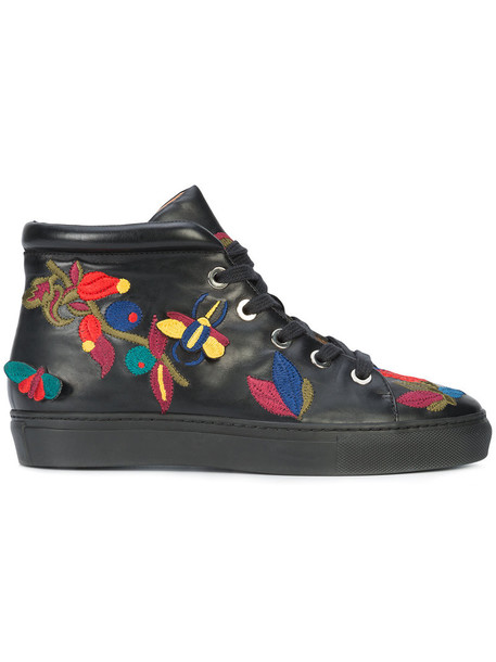 LAURENCE DACADE embroidered women sneakers leather black shoes