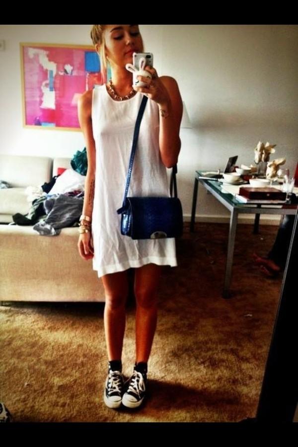 dress white dress miley cyrus