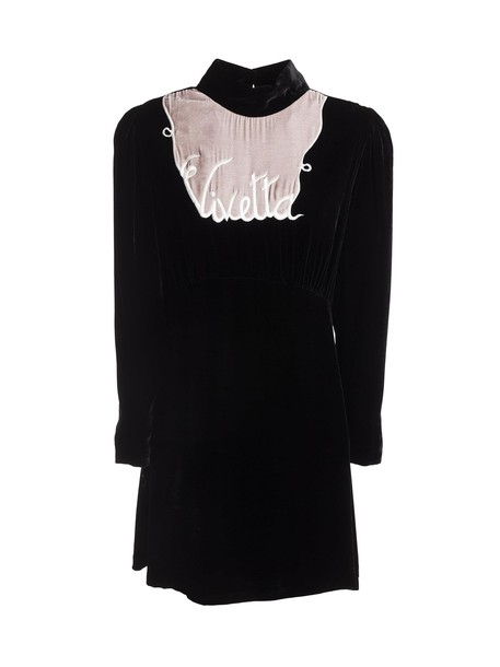 VIVETTA dress embroidered dress embroidered black