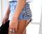 Dangers denim half studded shorts