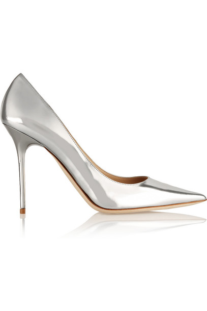 Jimmy Choo pumps leather silver shoes
