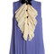 Bow-detail pleated silk top