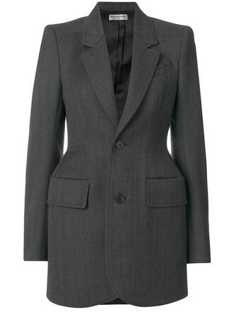 blazer women wool grey jacket