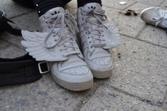 shoes white white shoes wings