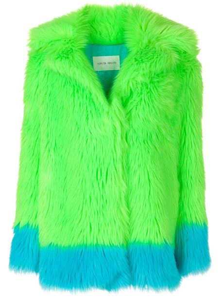 Alberta Ferretti coat faux fur coat fur coat fur faux fur women green