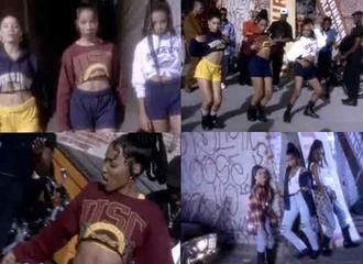 top crop tops music video 90s style old school black girls killin it