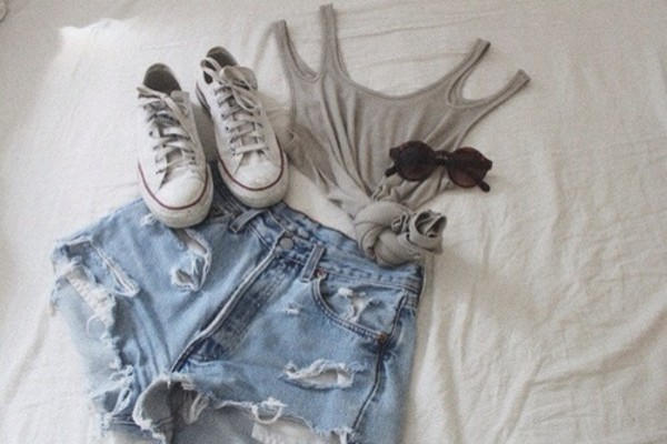 tank top crop tops gray shirt shorts