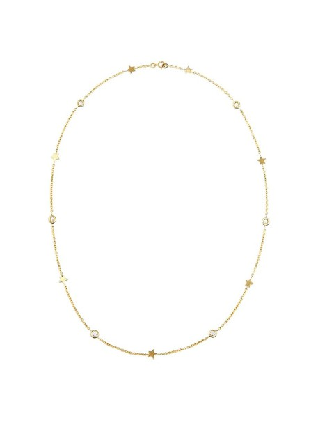 Luis Miguel Howard women necklace diamond necklace gold stars grey metallic jewels