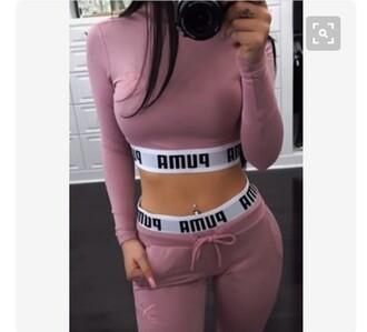 top set pants mauve puma