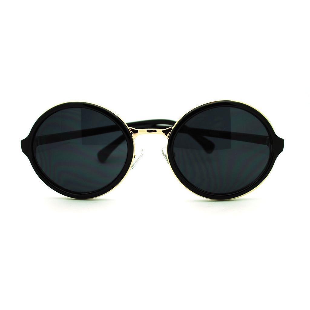 Round Gold Bridge Sunglasses – Belle Soirée