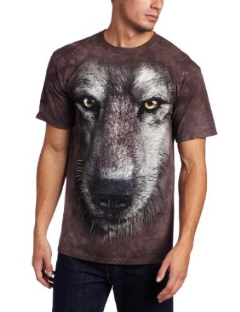 Amazon.com: The Mountain Men's Wolf Face Shirt: Clothing