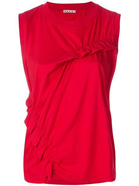 vest women cotton red jacket