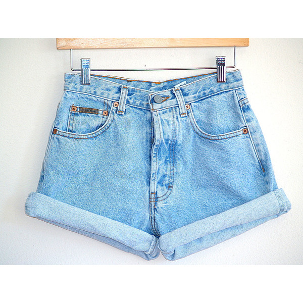 Vintage 90's High Waisted Denim Shorts Calvin Klein Size 3