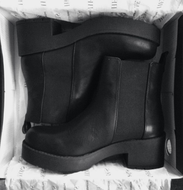 shoes black boots perf