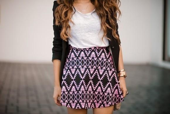 aztec skirt tribal pattern skater skirt