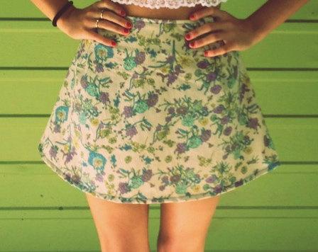 Basic flare mini skirt by kbleadesigns on etsy