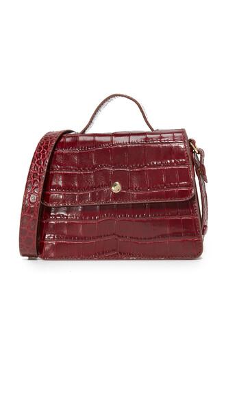 satchel mini oxblood bag