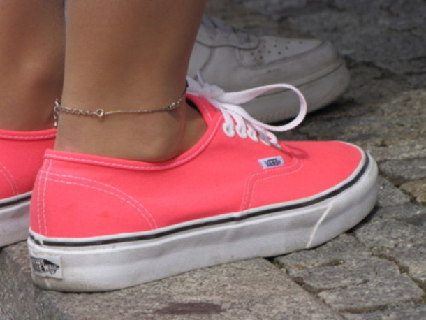 shoes vans pink coral daps bright sneakers
