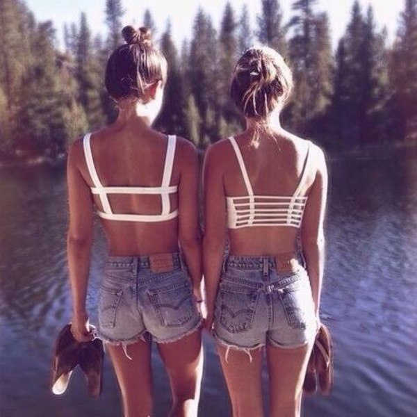 467a424dbc352 backless top tank top cut out white crop tops summer swimwear white cut-out  cut.