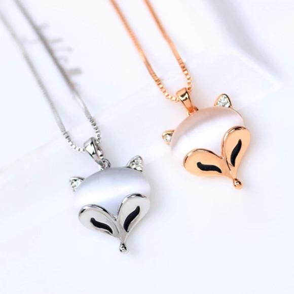 jewels necklace fox