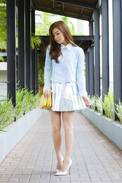 kryzuy sweater skirt shoes bag
