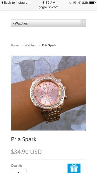 jewels rose gold watch rose gold watch